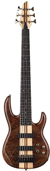 LB76W Claro Walnut Series 6-String Active Bass by Carvin
