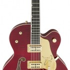 G6136TFM-DCHY Limited Edition Falcon w/Bigsby, Tiger Flame Maple, TV Jones, Dark Cherry Stain