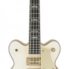 Gretsch Guitars G6136B-TP12 Custom Shop Tom Petersson Signature White Falcon™ 12-String Bass with Cadillac Tailpiece, White Lacquer Relic