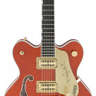 Gretsch Guitars G6620TFM Players Edition Nashville® Center Block Double-Cut with String-Thru Bigsby® Filter`Tron™ Pickups, Tiger Flame Maple, Orange Stain