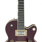 Gretsch Guitars G6659TFM Players Edition Broadkaster® Jr. Center Block Single-Cut with String-Thru Bigsby®, USA Full`Tron™ Pickups, Tiger Flame Maple, Dark Cherry Stain