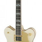 Gretsch Guitars G6136B-TP Tom Petersson Signature Falcon™ 4-String Bass with Cadillac Tailpiece, Rumble'Tron™ Pickup, Aged White Lacquer