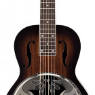 G9230 Bobtail Square-Neck A.E. Mahogany Body Spider Cone Resonator Guitar, Fishman Nashville Resonator Pickup