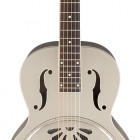 G9221 Bobtail Steel Round-Neck A.E. Steel Body Spider Cone Resonator Guitar, Fishman Nashville Resonator Pickup