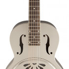 G9231 Bobtail Steel Square-Neck A.E. Steel Body Spider Cone Resonator Guitar, Fishman Nashville Resonator Pickup
