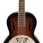 G9240 Alligator Round-Neck, Mahogany Body Biscuit Cone Resonator Guitar