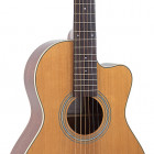 RP1-16C Recording King Schoenberg Torrefied Adirondack Spruce Top Guitar, 0 Body Cutaway